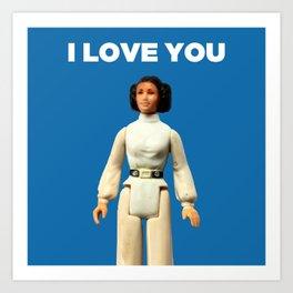 I Love You - Leia Art Print