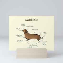 Anatomy of a Dachshund Mini Art Print