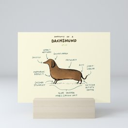 Anatomy of a Dachshund Mini Art Print
