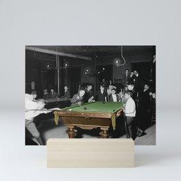 Vintage Pool Hall Mini Art Print
