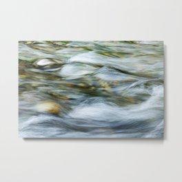 Flowing river Metal Print