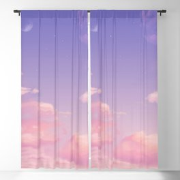 Sky Purple Aesthetic Lofi Blackout Curtain