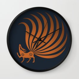 The Fox with Nine Tails Wall Clock