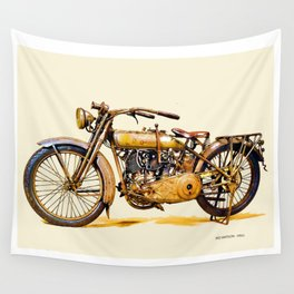 Vintage HD Motorcycle - Circa 1917 Wall Tapestry