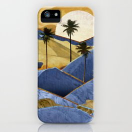 Desert Palm Trees at Dawn iPhone Case
