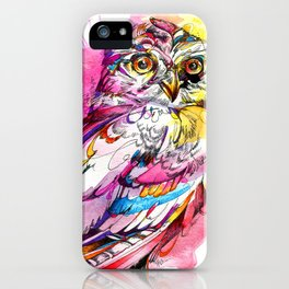 Neon Northern Pygmy Owl iPhone Case