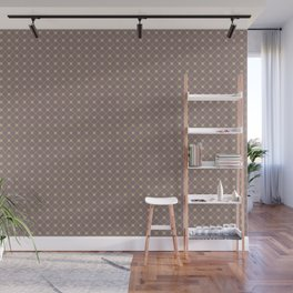Earthy Green on Grape Vine Purple Parable to 2020 Color of the Year Back to Nature Polka Dot Grid Wall Mural