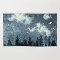 cloud Area & Throw Rugs featuring The cloud stealers by HappyMelvin