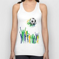 world cup Tank Tops featuring World Cup Fever by Robin Curtiss