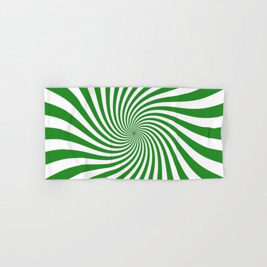 Swirl (Forest Green/White) Hand & Bath Towel