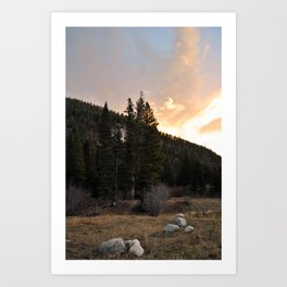 Sunrise in the Peaceful Valley Art Print