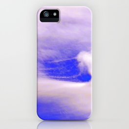 """Cloud Window #34"" with poem: Fame #2 iPhone Case"