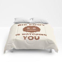 Big Foot Is Watching You Comforters