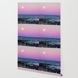 Full Moon on Blue Hour Wallpaper