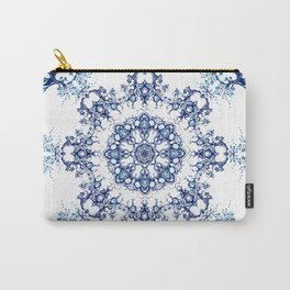 blue garden mandala Carry-All Pouch