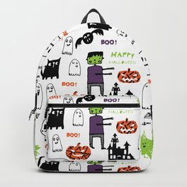Cute Frankenstein and friends white #halloween Backpack