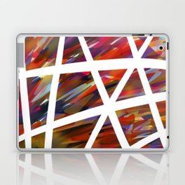 Colorful Chaos - White Stripes Laptop & iPad Skin