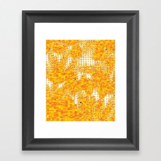 Golden Pebbles Framed Art Print