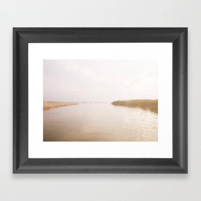 Coastal Opposites Framed Art Print