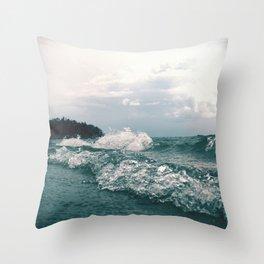 Fourth Sand Beach Throw Pillow