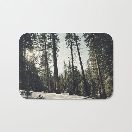 Winter Sequoia Forest Bath Mat