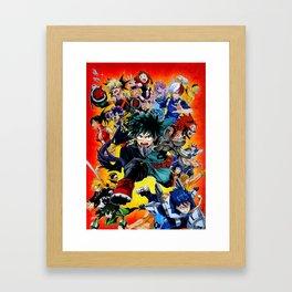 my hero academia Framed Art Print