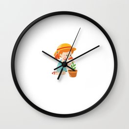 Lost in the Garden Nature Lover Gardening T-Shirt Wall Clock