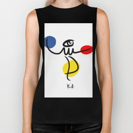 The Juggler of Life Minimal Art Design Biker Tank