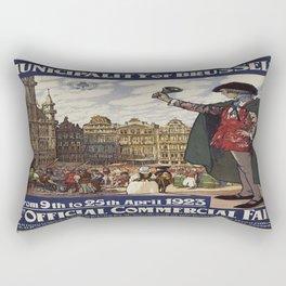 Vintage poster - Brussels Rectangular Pillow