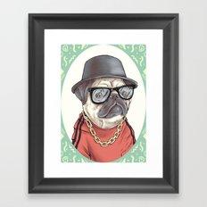 90's Pug rapper Framed Art Print
