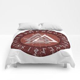 Valknut | Viking Warrior Symbol Triangle Comforters