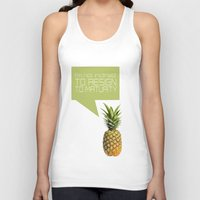 psych Tank Tops featuring psych tv show... im not inclined to resign to maturity by studiomarshallarts
