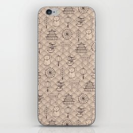 Retro asian pattern iPhone Skin