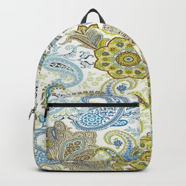 Golden Paisley Backpack