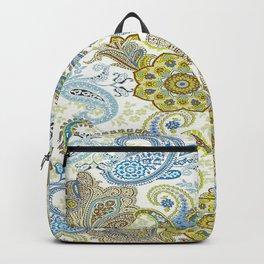 Golden Paisley Backpack