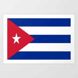 Flag of Cuba -cuban,havana, guevara,che,castro,tropical,central america,spanish,latine Art Print