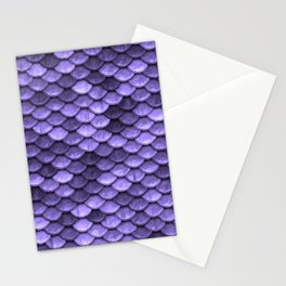 Mermaid Scales Periwinkle Ultra Violet Stationery Cards