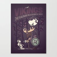 vikings Canvas Prints featuring Vikings by hugraphic