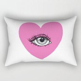 Love is watching Rectangular Pillow