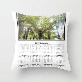 Fern tree, NZ Calendar 2017 Throw Pillow