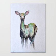deer in the fog Canvas Print
