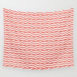 Geometric pattern in peach echo Wall Tapestry