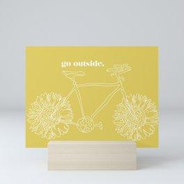 Sunflower Bike Mini Art Print