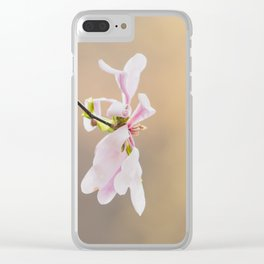 Find your time to bloom Clear iPhone Case