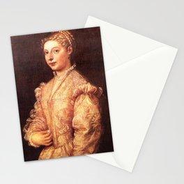 Titian - Portrait of Lavinia Vecellio Stationery Cards