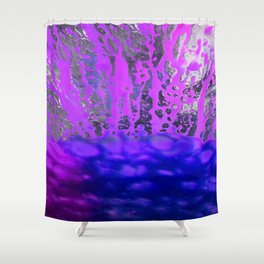 Pink and Blue Spray Pattern Shower Curtain