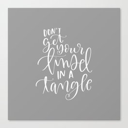 Don't get Your Tinsel in a Tangle Canvas Print