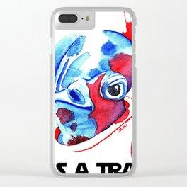 Its a TRAP!!!! Ackbar Watercolor Concept Clear iPhone Case