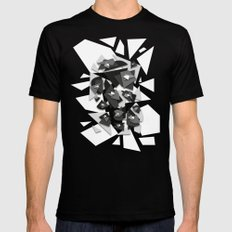 Effecting Geometry Mens Fitted Tee Black LARGE