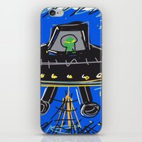 ufo iPhone & iPod Skins featuring Ufo by Rimadi